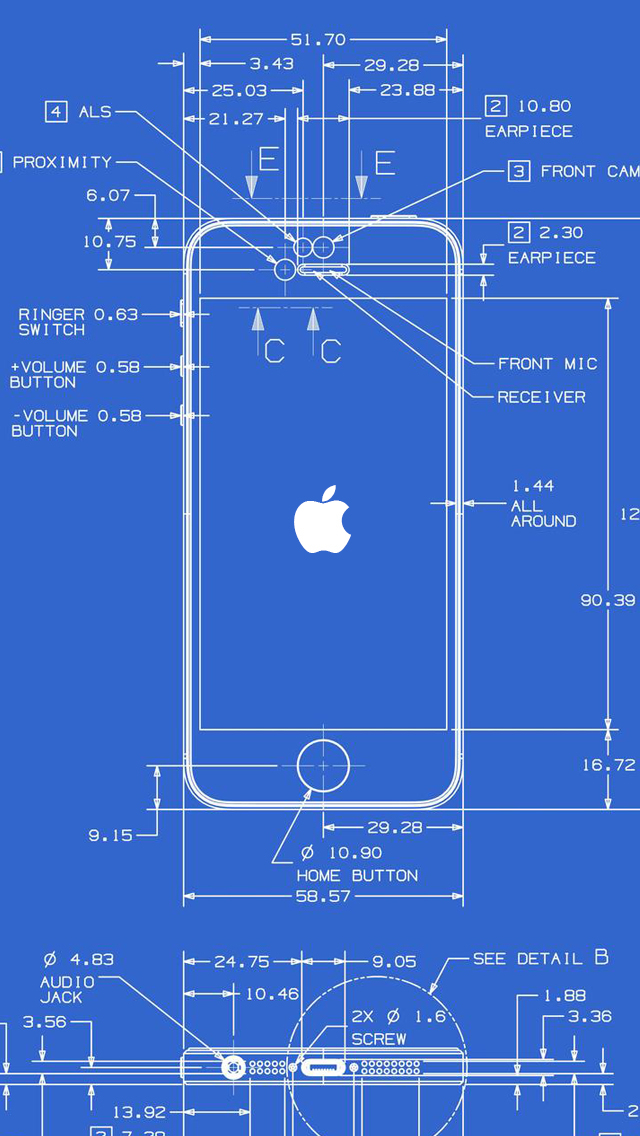 Iphone 5 wallpaper for Where to print blueprints